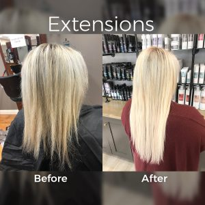 extensions - before and after