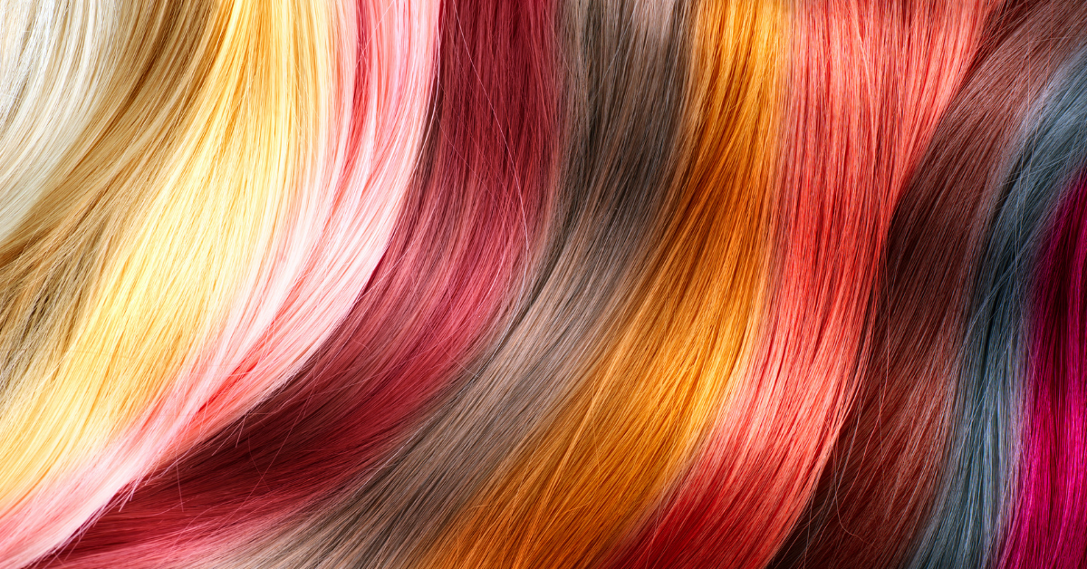 A variety of hair colors displayed together